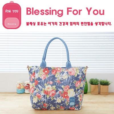 [블레싱포유 ] 보온 보냉 기저귀가방 - 숄더 Lovely Line