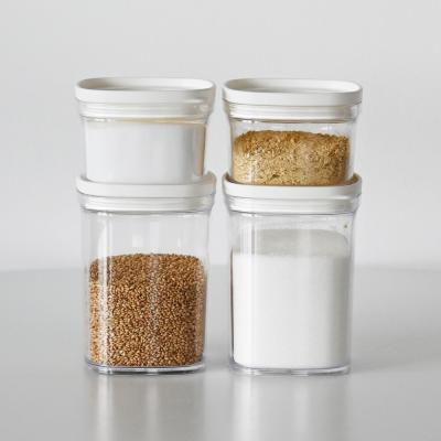 캐니 다용도 냉장고 투명 정리용기 조미료통 4P세트