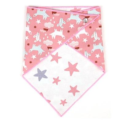 에이에프비 포인트양면 스카프빕 핑크여우