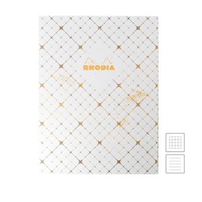[로디아] 헤리티지 실제본 노트 19x25 까뜨리유 화이트 (줄지/격자)