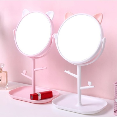 고양이 메이크업 탁상거울