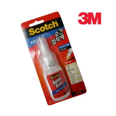 3M 스카치™ 순간 접착제 트위스트형 AD120(액상 20g)