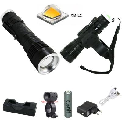 LED 충전식 자전거 라이트 전조등 랜턴 손전등 DHH858