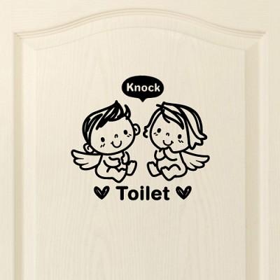 아기천사_toilet [포인트스티커/화장실스티커/욕실스티커]