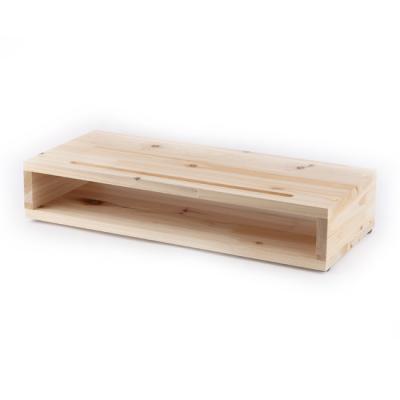 원목 삼나무 모니터 받침대 BOX