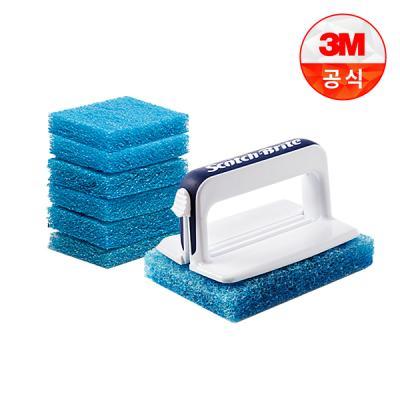 [3M]New 올인원 욕실청소용 크린스틱 핸들 1개+리필 7개
