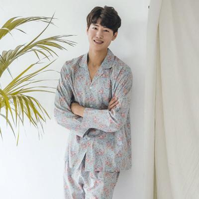 [쿠비카]로맨틱 플라워  긴팔 남성잠옷 BNBR-M069