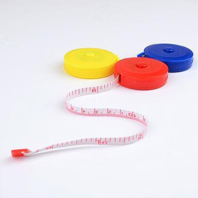 기본형 휴대용 원형 줄자 1개(색상랜덤)