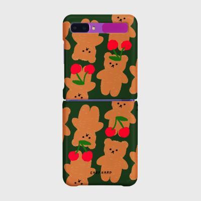 Dot cherry big bear-green(Z플립-하드)
