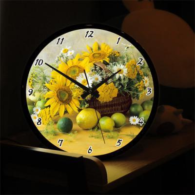nf252-LED시계액자35R_행복해지는해바라기꽃바구니