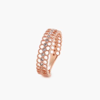 제이로렌 0R0440 레이스 패턴의 로즈골드 브래스 반지