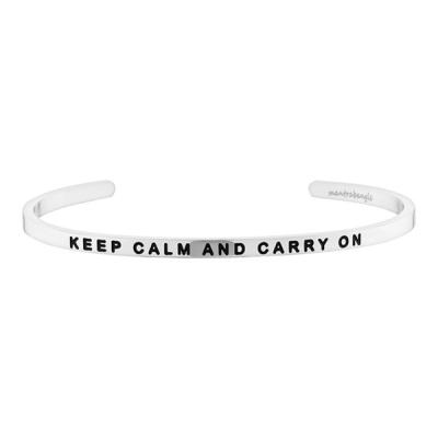[만트라뱅글] KEEP CALM AND CARRY ON - 실버