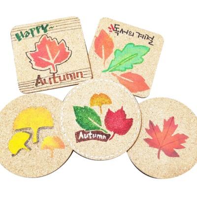 가을낙엽 스텐실 컵받침 만들기(5인용)