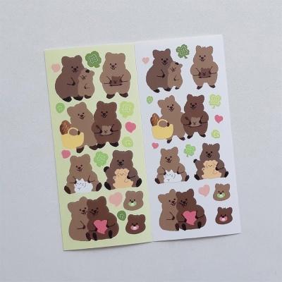 [영이의숲]꽃카 가족 씰스티커