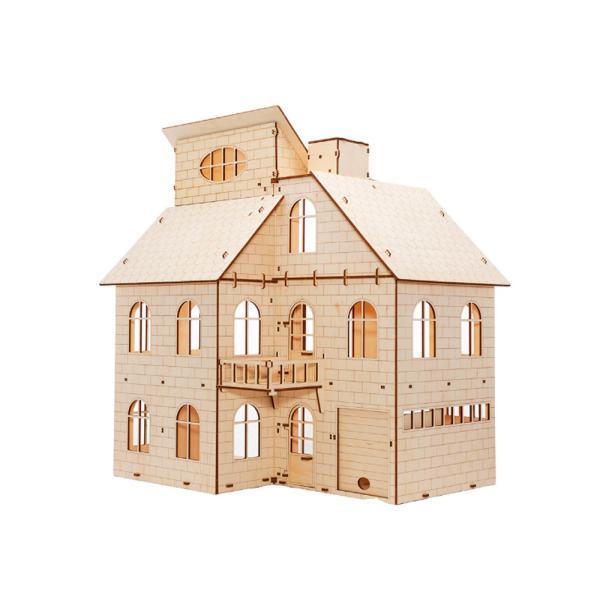 EWA 에코우드아트 3D DIY 입체 나무퍼즐 인형의 집