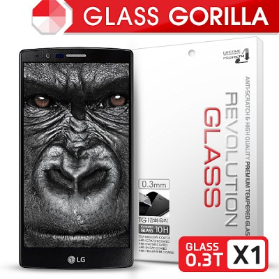 [프로텍트엠] 레볼루션글라스 고릴라 0.3T 강화유리/방탄액정보호필름 LG G4/지4/F500