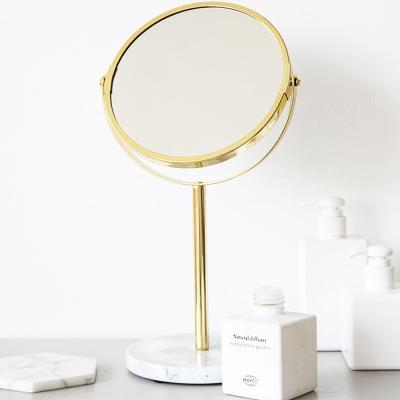 마블 원형 탁상 스탠드 인테리어 화장 화장대 거울