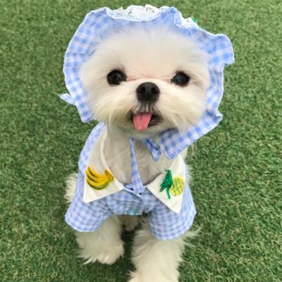 핸드메이드 강아지 하늘하늘 커플룩 /강아지셔츠