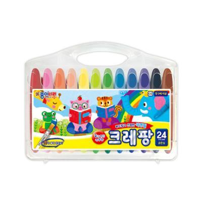종이나라 13000 크레팡 24색 굵은심 색연필 크레파스