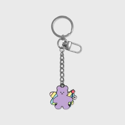 Angel bear-purple(금속 키링)