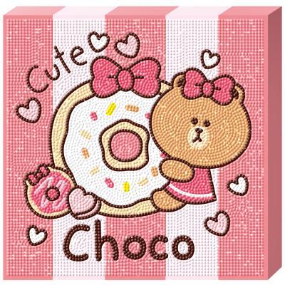 라인프렌즈 도넛 초코 캔버스 보석십자수 TPD25-404
