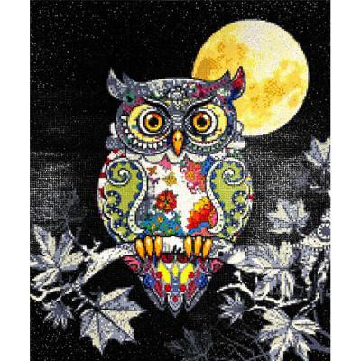 달빛 부엉이 (패브릭) 보석십자수 50x60