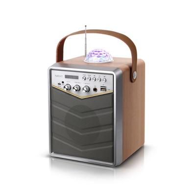 넥스트네트워크 미러볼 블루투스 노래방 마이크 스피커 NEXT-BT30AMP (무선마이크 포함 / 20W 고출력 엠프 / 라디오)