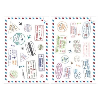 Miccudo 프린트-온 스티커 (18.Travel stamp)