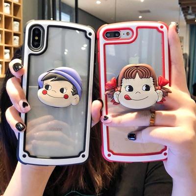 아이폰11 프로 맥스 캐릭터 그립톡 투명 하드 케이스