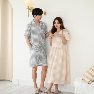 설레임 커플 원피스 신혼부부 커플 잠옷 홈웨어
