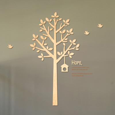 [우드스티커] 꿈꾸는나무 (반제품) 나무 트리 아트월 우드월 셀프인테리어 스카시 나무스티커