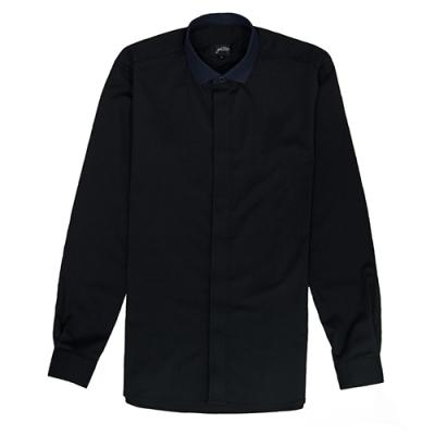 [게타] Black hidden button NC shirt