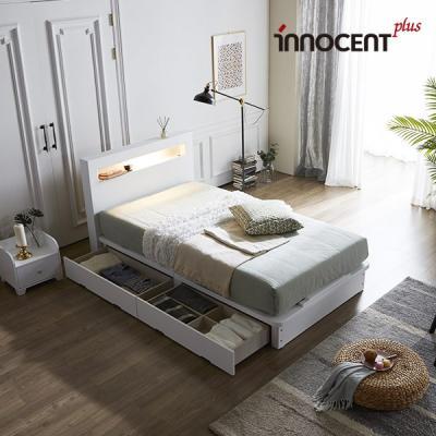 [이노센트] 리브 메시아 LED 큰서랍 침대 SS