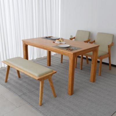 N423 4인 원목 식탁 세트(벤치형) 2colors