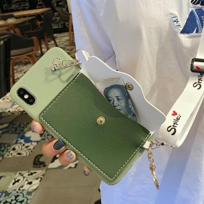 갤럭시S10 5G S10E S9 파스텔 카드지갑 스트랩 케이스