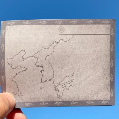 동아시아사 공부를 위한 지도 그레이 빈티지 떡메모지