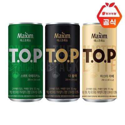 TOP  티오피 200ml 18캔 / 블랙 라떼 스위트