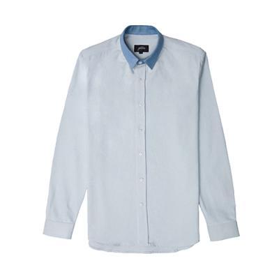 [게타] Blue collar light denim shirt
