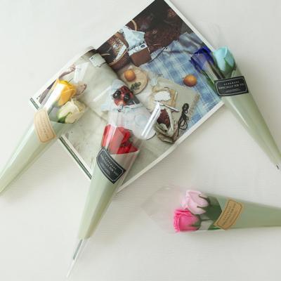 비누장미 두송이 꽃다발 [4color]
