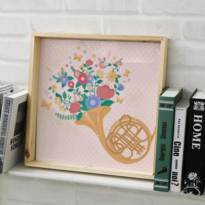 cl250-우드프레임액자_꽃과악기