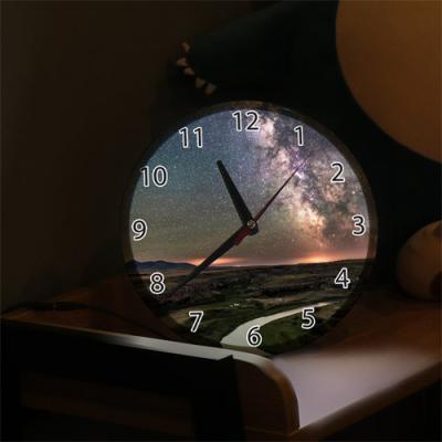 ng166-LED시계액자25R_은하수풍경