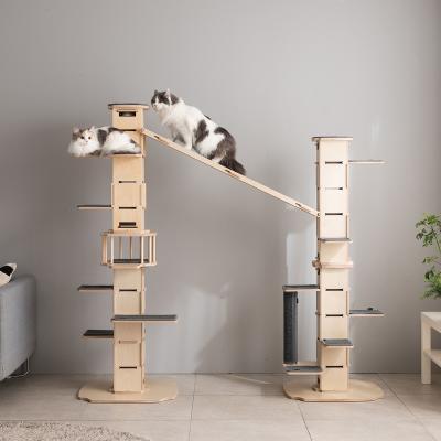 무한확장 모넬로 스퀘어 고양이 원목 캣타워 GO2080A