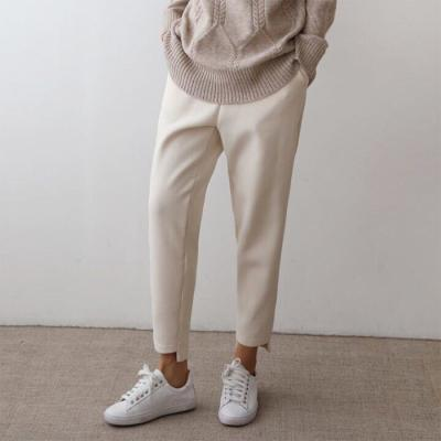 Wool Unbal Baggy Pants - 안감기모