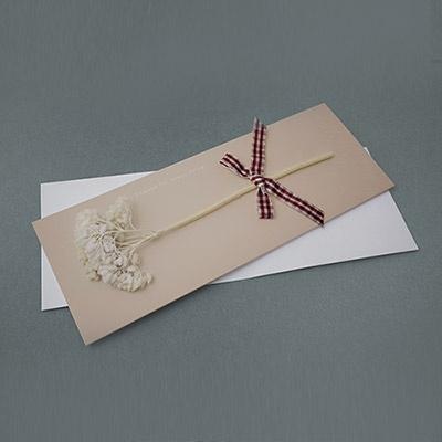 흰말린꽃 감사카드
