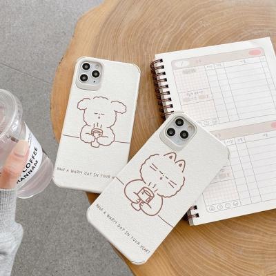아이폰11 PRO MAX SE2 8 XR 동물 사각 실리콘 케이스