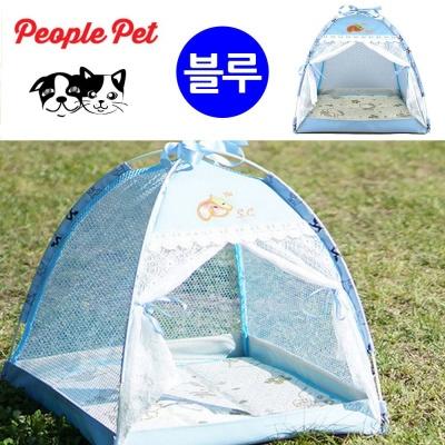 피플펫 천국텐트 강아지 하우스 (블루)