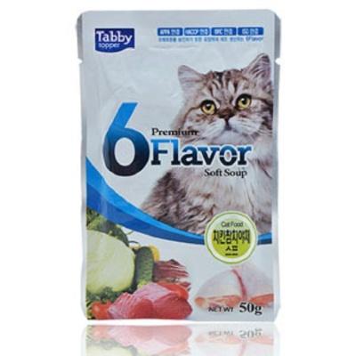 캣 고양이 파우치 50g 치킨참치야채수프 습식 사료