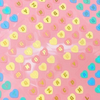 반짝반짝 Heart Alphabet warm 칼선 스티커