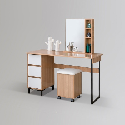 코기 스틸 수납 화장대 1200 거울 + 의자 포함 (착불)