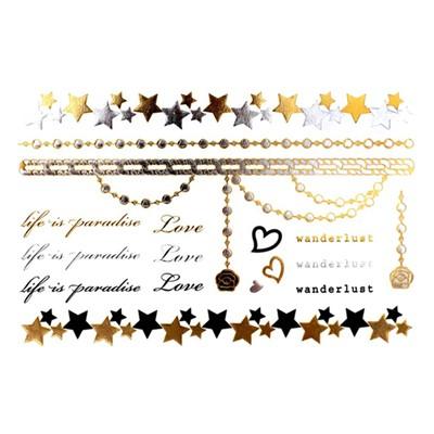 [글림스] 골드타투 금은박타투 GLEAMS Mint Sheet M-4 / 겟잇뷰티추천상품